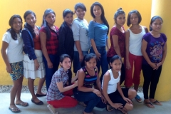 youth group of girls